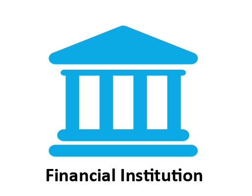 financial institutions icon for the computerized accounting program