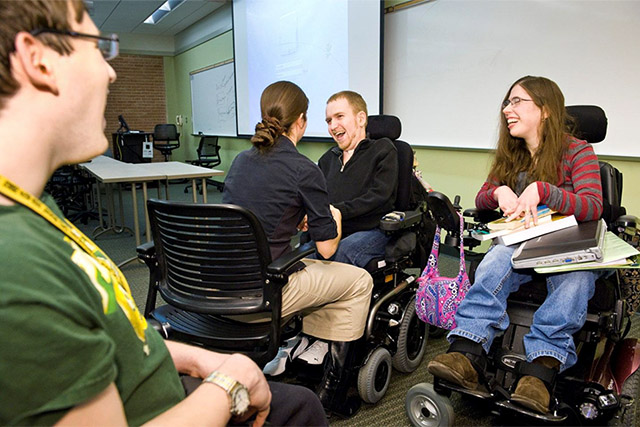 DSW from City College with three developmentally disabled students