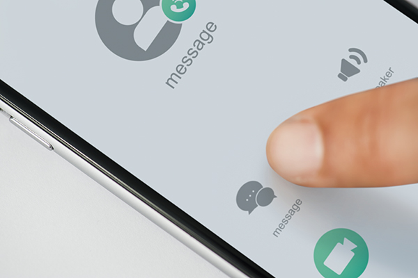 Closeup of mobile phone